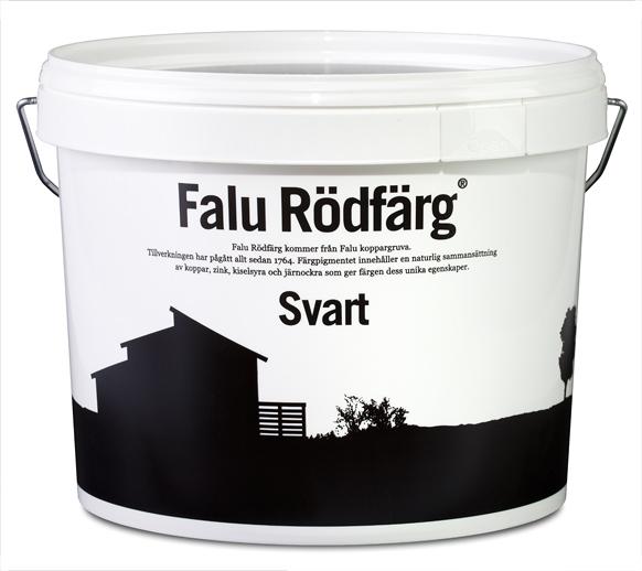 Välkända Falu Rödfärg, Svart 10 liter WO-48