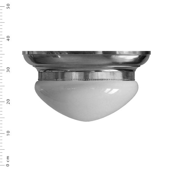 Frödingeplafond i nickel m vitt glas, 300 mm