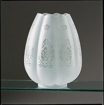 glaskupa till gammal fotogenlampa