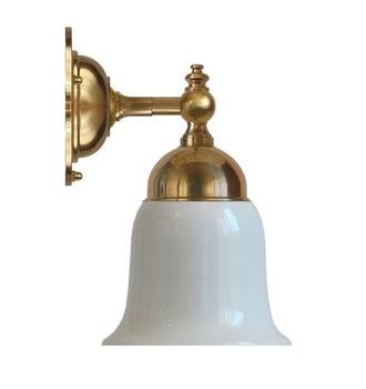 Klassisk badrumslampa Blomberg 60 i mässing Sekelskifte