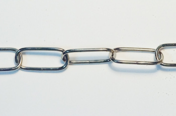Kedja i nickel, 29x10 mm